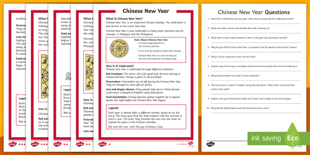 ks1 chinese new year differentiated reading comprehension activity chinese. Black Bedroom Furniture Sets. Home Design Ideas