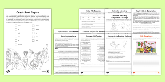 Years 3 and 4 Home Learning: Conjunctions Worksheet / Worksheets