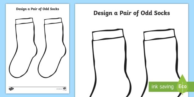 design a pair of odd socks worksheet activity sheet key