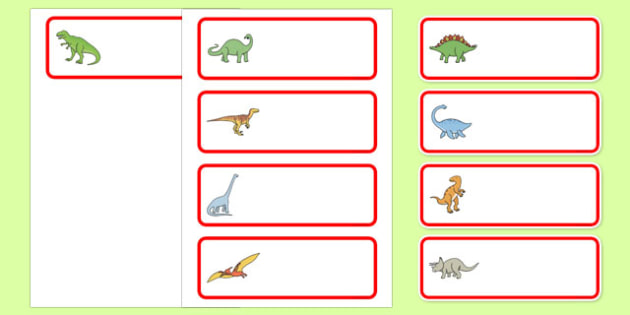 editable drawer peg name labels dinosaurs classroom
