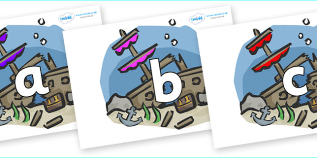 Phoneme Set on Ship Wrecks - Phoneme set, phonemes, phoneme, Letters and Sounds, DfES, display, Phase 1, Phase 2, Phase 3, Phase 5, Foundation, Literacy