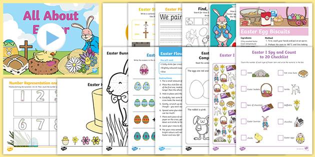 Kindergarten Easter School Closure Activity Pack Ages 3 5
