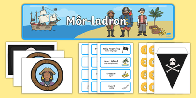 Pirate Ship Role Play Pack Bilingual Resource - cymraeg, Pirate Ship, Role Play, Welsh, Pirates