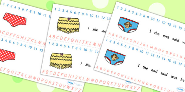 Story Number and Alphabet Strips to Support Teaching on Pants - pants, story strips, number strips, alphabet strips, number, alphabet, counting, a-z, writing aid, counting aid