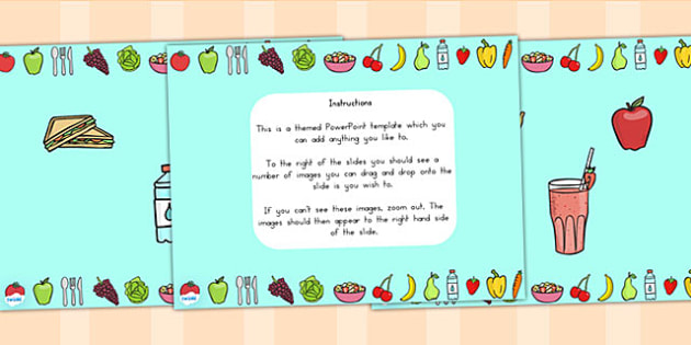 Healthy Eating Editable PowerPoint Background Template - health