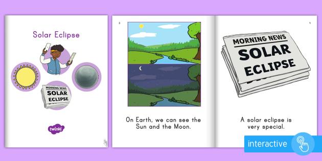 Solar Eclipse Emergent Reader  eBook - sun, moon, earth, space, science, light, dark, event