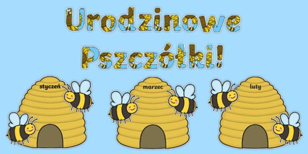 Zestaw Urodzinowe Pszczólki po polsku