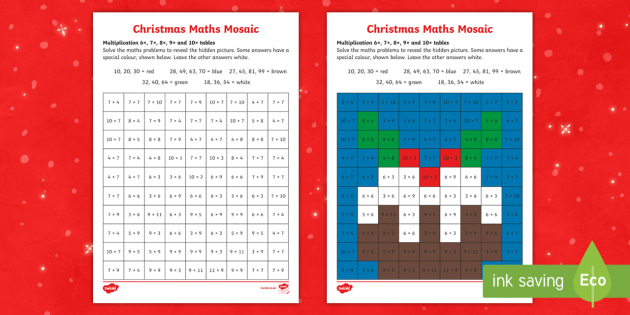 6 7 8 And 9 Times Tables Christmas Times Tables Resource