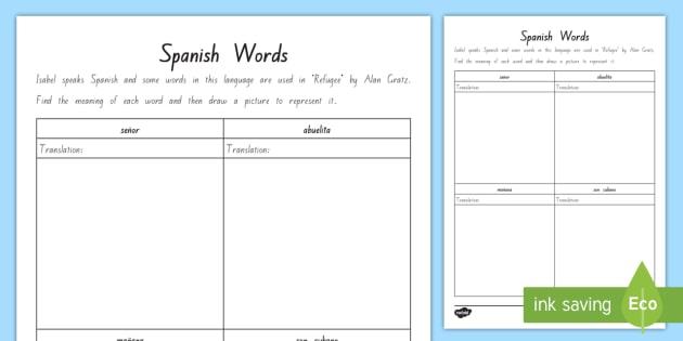 free term 1 week 4 year 7 8 chapter chat spanish translation worksheet. Black Bedroom Furniture Sets. Home Design Ideas