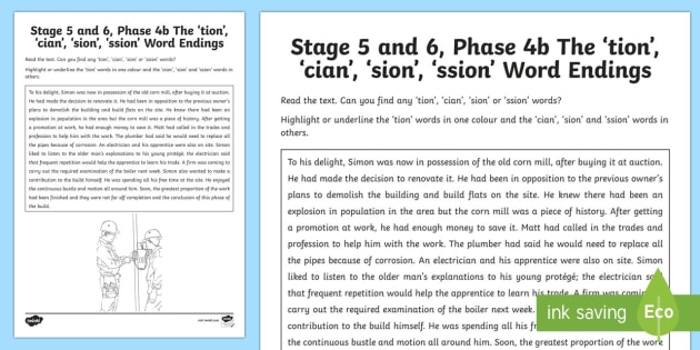 northern ireland linguistic phonics stage 5 and 6 phase 4b 39 tion cian sion 39. Black Bedroom Furniture Sets. Home Design Ideas