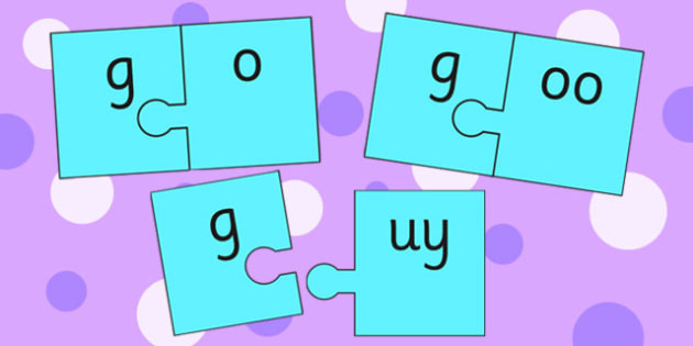 g and Vowel Production Jigsaw Cut Outs - g sound, sounds, jigsaw