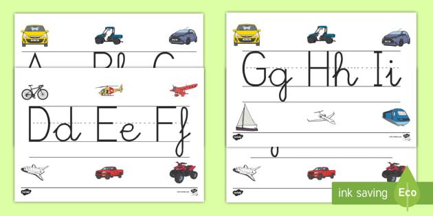 Recta alfabética de exposición: Transporte  - Transporte, proyecto, coche, avión, tren, bici, bicicleta, helicóptero, camión, coete, furgoneta,