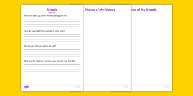 Elderly Care Life History Book Friends Fact File - Elderly, Reminiscence, Care Homes, Life History Books,  adult, education