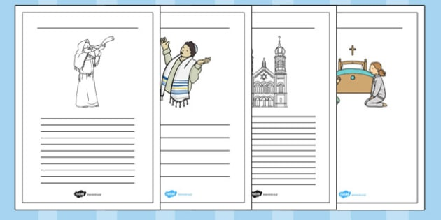 Yom Kippur Writing Frames - yom kippur, writing frames, writing