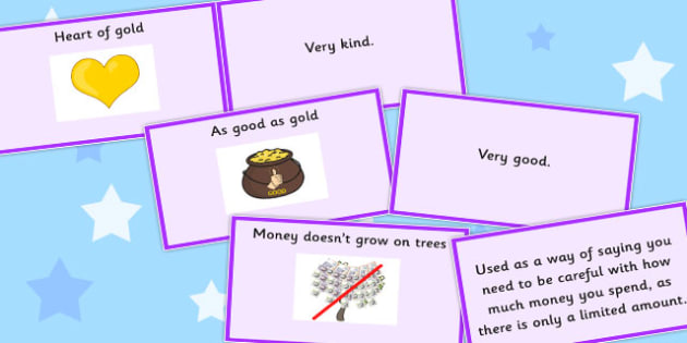 Money Idioms Matching Cards - money, idioms, matching, cards