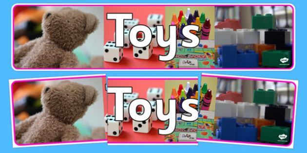 Toys Photo Display Banner - toys, photo display banner, photo banner, display banner, banner,  banner for display, display photo, display, pictures, images