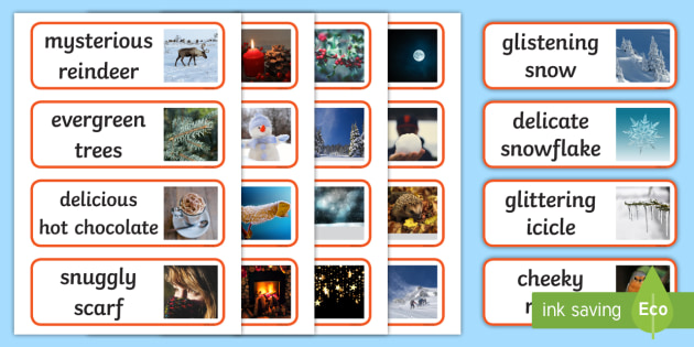 Adjectives about snow