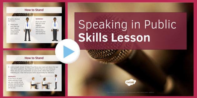 Speaking in Public Skills Lesson PowerPoint - speaking, public