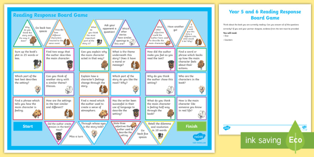 Story Lines A Reading Comprehension Game: Year 5/6 Reading Response Board Game