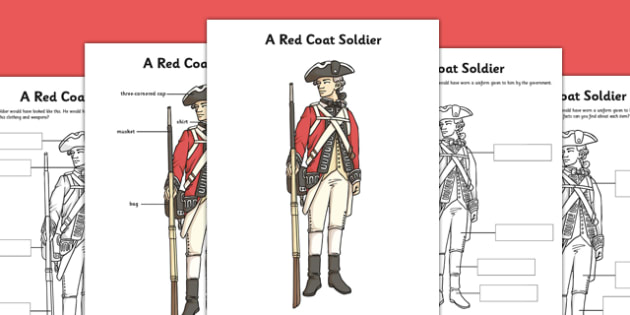 A Red Coat Soldier Poster and Differentiated Worksheets - red coat