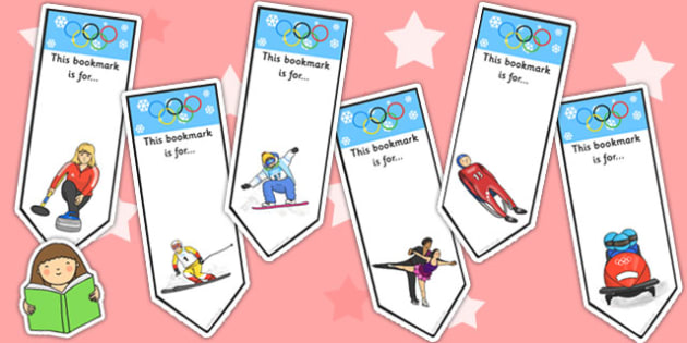Winter Olympics Bookmarks - olympic, sport, winter, books, read
