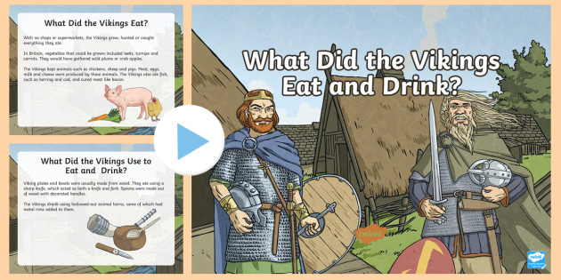 what did vikings eat for kids
