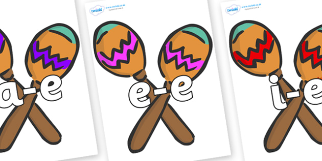 Modifying E Letters on Maracas - Modifying E, letters, modify, Phase 5, Phase five, alternative spellings for phonemes, DfES letters and Sounds