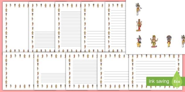 Hindu Gods Page Border Pack