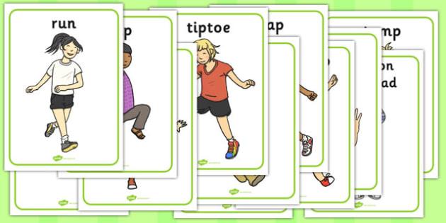 Train Driver Movement Picture Cards - train, driver, movement