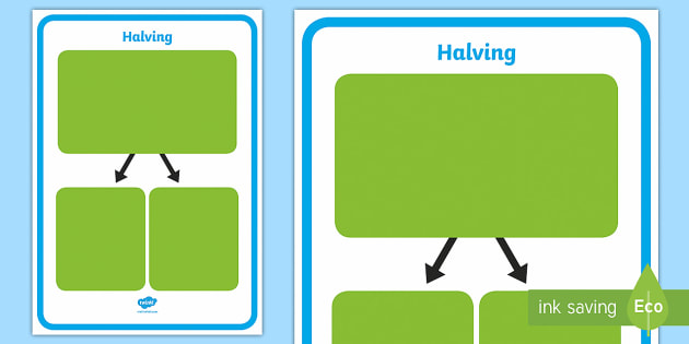 halving mat fractions half halving shape shapes half of a. Black Bedroom Furniture Sets. Home Design Ideas