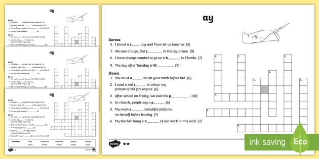 Ay digraph differentiated crossword vowel diagraph reading ay digraph differentiated crossword vowel diagraph reading first class second ccuart Choice Image
