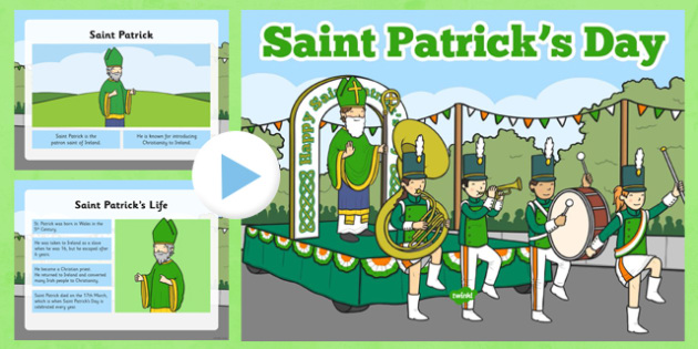 st patricks day informative powerpoint - patrick, st patricks, Powerpoint templates