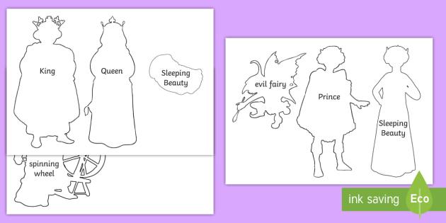 Sleeping Beauty Shadow Puppets - sleeping beauty, puppets, story