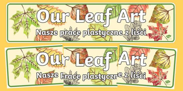 Our Leaf Art Display Banner Polish Translation-Polish-translation