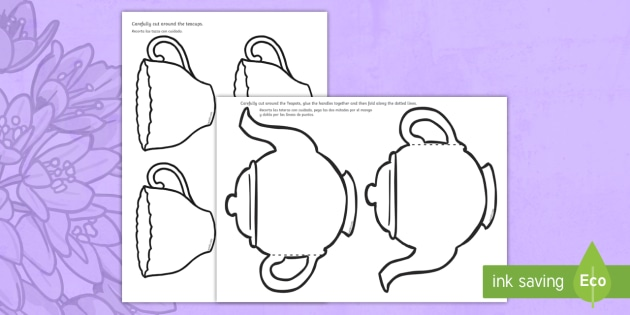 Mother\'s Day Card Blank Teapot Gift Card Template