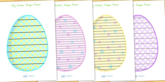 Easter Egg Shape Poems - easter, easter egg, egg, poem, poetry