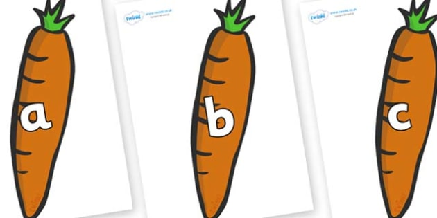 Phase 2 Phonemes on Carrots - Phonemes, phoneme, Phase 2, Phase two, Foundation, Literacy, Letters and Sounds, DfES, display