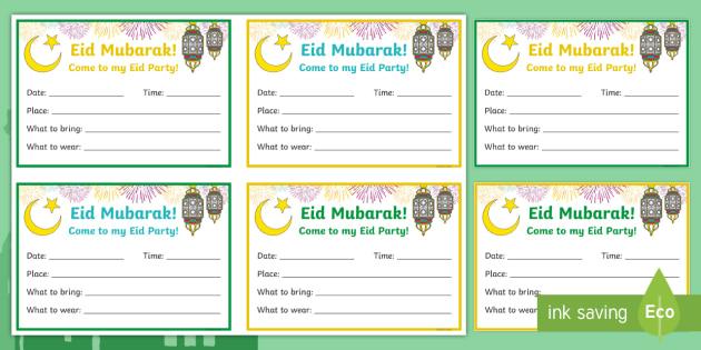 Eid party invitation version 2 writing template eid eid party invitation version 2 writing template eid mubarak party stopboris Gallery