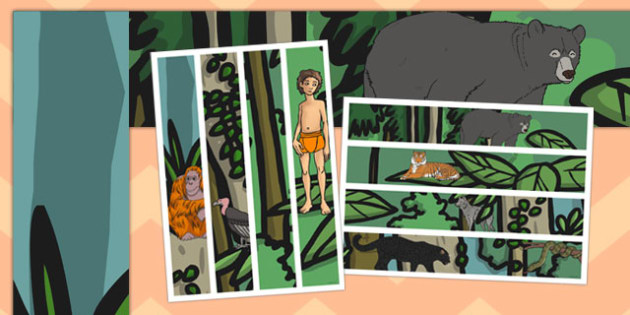 The Jungle Book A3 Display Borders - jungle book, a3, display borders
