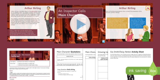 An Inspector Calls Main Characters Lesson Pack
