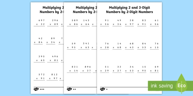 Multiplying 2- and 3-Digit Numbers By 2- Digit Numbers