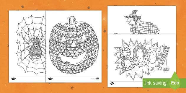Halloween Mindfulness Coloring Sheets Special Events K 5