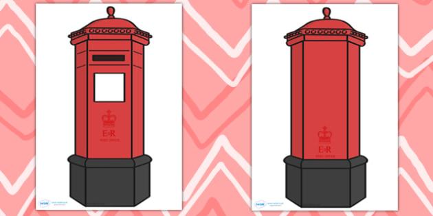 Giant Postbox for Display - postbox, role play, christmas, xmas
