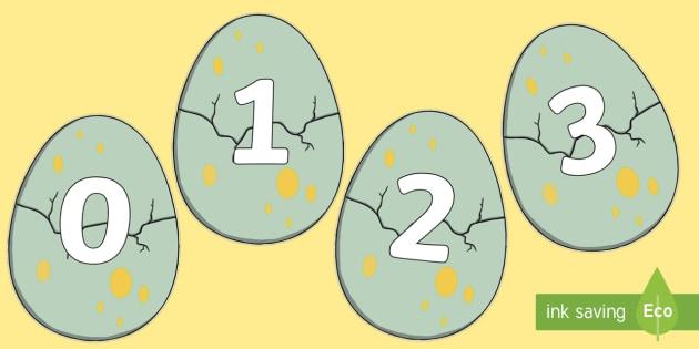 Numbers 0 30 On Dinosaur Eggs Cut Outs Dinosaur Footprint Number Trail