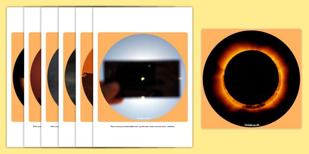 Solar Eclipse Display Photo Cut Outs - solar eclipse, sun, cutout