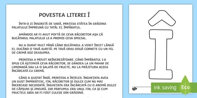 Litera î Poveste Povestea Literei î Litera î Alfabet Povești Clasa