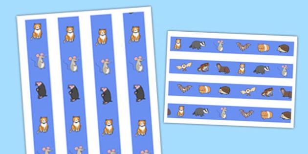 Nocturnal Animals Display Border - nocturnal animals, display border, display, border