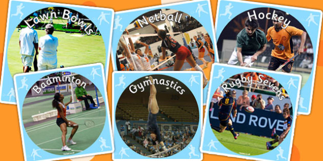 The Commonwealth Games Display Photo Cut Outs - sports, display