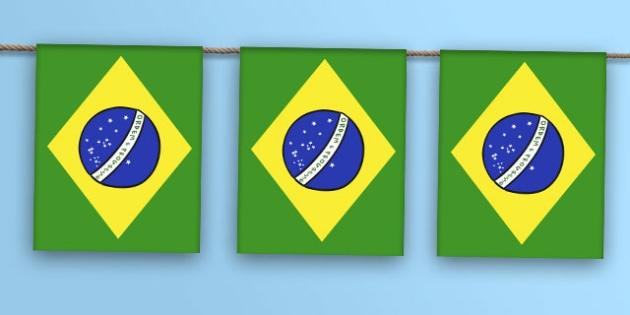 Brazil Flag Bunting - brazil flag, brazil, flag, display bunting, display, bunting