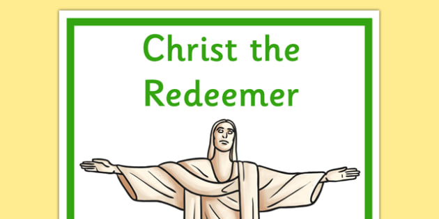 Christ the Redeemer Display Poster - christ the redeemer, display poster, display, poster, brazil, south america